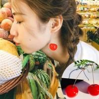 🍒 Anting Jepang cherry merah ceri panjang