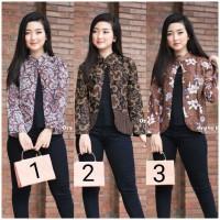 Baju batik wanita blouse bolero modern terbaru