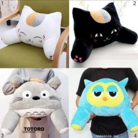 Bantal punggung boneka totoro cat owl lucu sandaran mobil kursi kantor