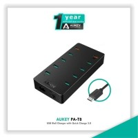 Aukey 10 Ports USB Qualcomm 3 0 Turbo Charging Station PA T8 Black