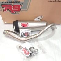 R9 knalpot racing R9 new alpha Nmax PCX Aerox Vario 150 2018