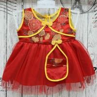 Baju Bayi Perempuan Baju Imlek Cheongsam Bayi Newborn List Kuning