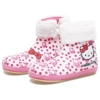 BDAGFX sepatu boots anak perempuan slip on sepatu pesta hello kitty