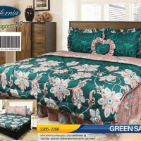 BED COVER SET CALIFORNIA / MY LOVE KING 180X200 / BADCOVER - BC GREEN