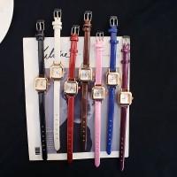 Versi Korea mini kecil persegi dari jam tangan wanita fashion tipis