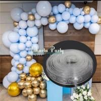 Stripe Tape Balon / Strip Arch Garland Dekorasi balon / Chain Balon