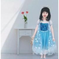 baju anak dress kostum gaun princess elsa frozen usia 2-6 tahun