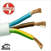 Kabel Listrik Flexible Putih NYMHY 3x1.5 SUPREME Serabut SNI *Meteran