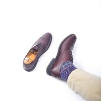 Sepatu Pria Pantofel Kulit Azcost Oxford - Coklat, Sepatu Kerja