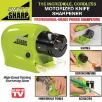 Swifty Sharp / Alat Pengasah Pisau Gunting Otomatis Elektrik Multi