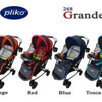 Stroller Kereta Dorong Bayi Pliko Grande 268 bisa ayun rocking