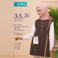 Atasan Kaos Combed + Alnita AN-AA50 + Tunik Original Branded