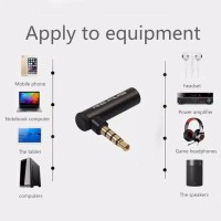 3.5mm male to 3.5mm female aux jack audio adapter 90 derajat L plug