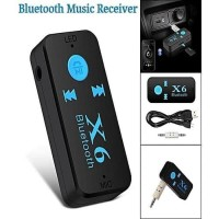 AUX BLUETOOTH CAR RECEIVER AUDIO X6 - WIRELESS MUSIC MICRO SD SUPPORT