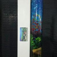 Background Aquarium Tinggi 40cm 1 roll 9019 Hawaii Blue