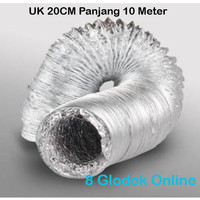 Alumunium Flexible Ducting 20CM / Flexible Pembuangan Hexos 8