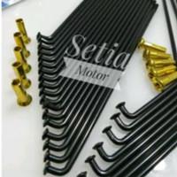 Jari jari-Jeruji model TDR hitam black gold motor 14-16-17-18 request