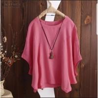 Atasan batwing jumbo Pink [Baju Atasan Wanita 0140] SLI