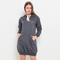 cocolulu - Kangaroo Fleece Sweat Hoodie Dress