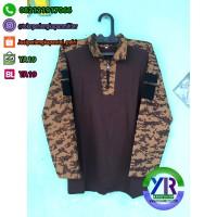 Kaos BDU / Combat Shirt Loreng Digital Pramuka