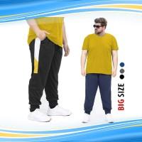 Celana Jogger Big Size Navy Timothy / Sport Joger Pants Jumbo Size - J