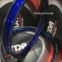VELG RIM SET TDR WX SHAPE TWO TONE 140/160 RiNG 17 WARNA BLACK/BLUE