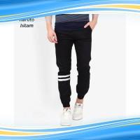 VM Celana Jogger hitam katun stretch slim - jogger long pant 225