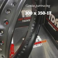 VELG TDR U-SHAPE 300/350 RING 17 WARNA BLACK (HITAM)TDR ORIGINAL SET