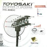 Antene Antena TV+Remote+Kabel 10m+Jek Toyosaki TYS-888SC Keren
