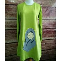 XXXL Baju Kaos Tunik Da'wah Muslimah Panjang Jumbo Size XXXL