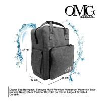 Tas Bayi Ransel Diaper Bag Backpack Travel Tas Susu Waterproof OMG