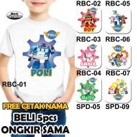 Kaos / Baju ROBOCAR POLI - Free Cetak Nama