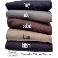 Celana Baggy Pants - Polos Katun Stretch - Celana Panjang Wanita