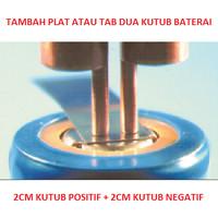 Tambah Tab Plat Nikel Pakai Las Spot Welder Terminal Baterai Flat Top