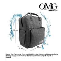 baby diaper bag tas perlengkapan bayi ransel backpack OMG grey