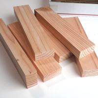 25x5x1.5cm Unfinished mini wood block kaso balok kayu jati belanda