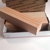 4x4x22.5cm Unfinished mini wood block kaso balok kayu jati belanda