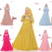 Gamis Syari Anak Premium Alaina by Hawwaaiwa Ori 5-6y. Baju Muslim