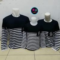 Baju Couple Family Sailor Navy LP   Kaos Pasangan Keluarga Anak Murah