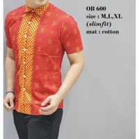 Baju Batik Oriental Pria Kemeja Fashion Imlek Lengan Pendek