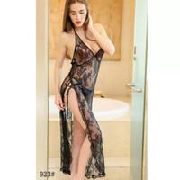 lingerie panjang lace transparan/baju sexi /baju tidur wanita