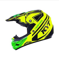 KYT Cross Over KRC Super Fluo Helm Motocross - Yellow Green