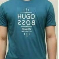 kaos tshirt kaos pria HUGO BOSS kaos keren warna stok ada