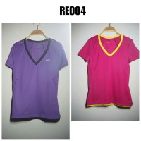 RE004 Kaos Lari Cewek Lengan Pendek Baju Senam Fitness dll
