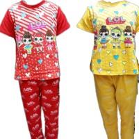 Baju Tidur anak - baju harian - setelan - LOL - lengan pendek
