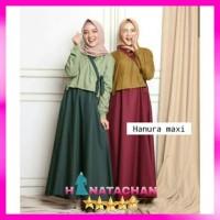 Baju Gamis Wanita Terbaru / Hanura Maxi Dress Remaja Muslim Kekinian