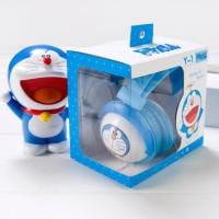 Headphones Bando Gaming Dan Music Karakter Doraemon Lucu headset