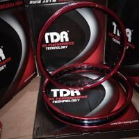 Velg tdr 140+160 red black ring 17