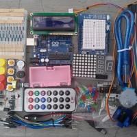 Arduino uno r3 compatible starter kit paket pemula free Cd tutorial