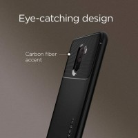 Xiaomi Pocophone F1 Soft Case Carbon Spigen Rugged Armor Back Cover